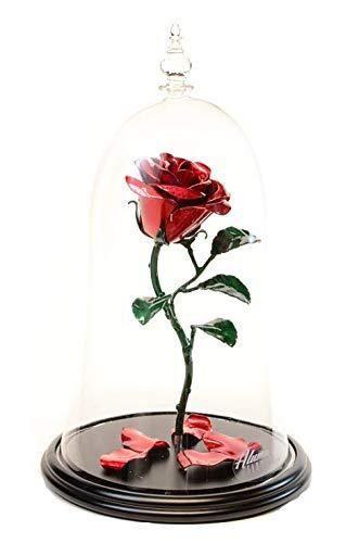 Cute Belle Disney Rose Flower Beauty and The Beast Themed Custom Rose License Plate Frame