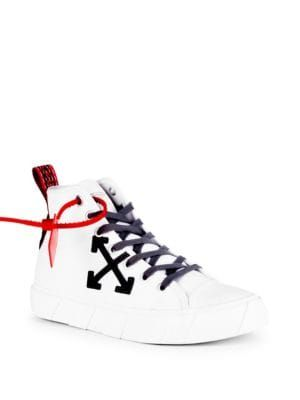 OFF WHITE Mid Top Arrow Sneakers. #off white #shoes