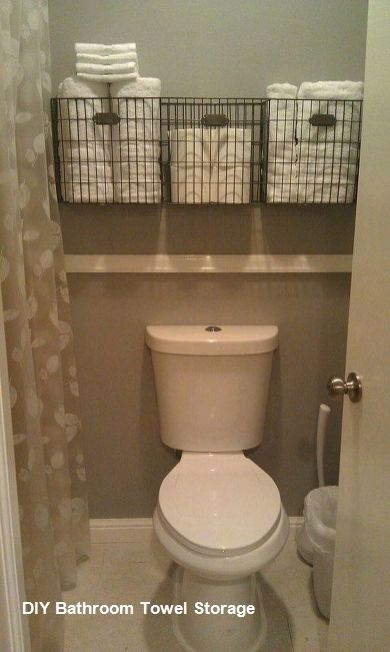 Diy Bathroom Towel Storage Ideas In 2020 Diy Bathroom Storage Bathroom Organization Diy Easy Bathroom Organization