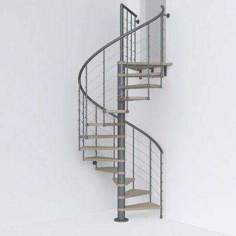 Escalier Colimacon Rond Revers Acier Gris Ant Ring 12 Mar Orme Clair 148 Cm Escalier En Colimacon Escaliers Ronds Escalier