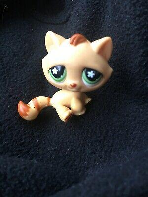 Littlest Pet Shop Cat Tabby Flower Eyes 747 Authentic Lps Ebay