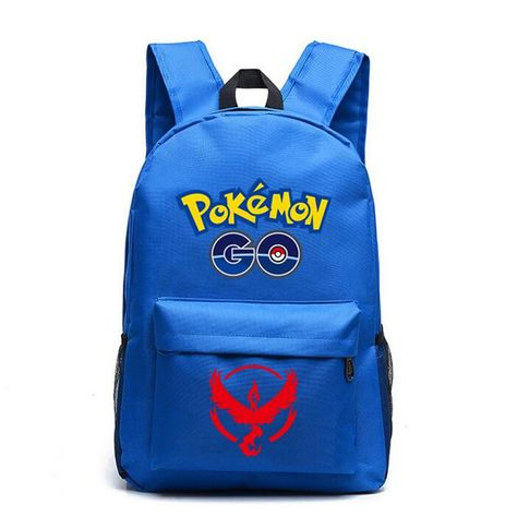 Animation Pokemon Go Nylon Backpack Student High Quality Fashion School Bag Large Casual Travel Shoulder Bag RuckSack Mochila