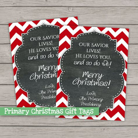 Christmas Gift Tags  LDS Primary 2015 Theme by IttyBittyPixel                                                                                                                                                                                 More