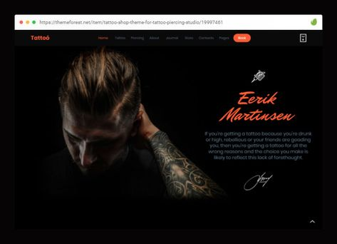 15 Cool WordPress Themes for Tattoo Artist – Bashooka