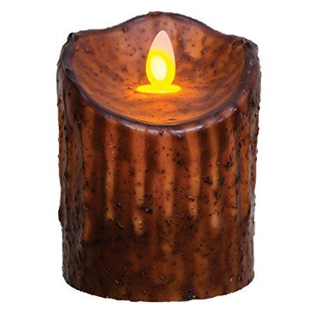 Cwi Gifts Small Flicker Pillar Candle With Cinnamon Wax Details 4 Mustard Primitivebathrooms Primitive Bathrooms Primitive Candles Dripless Candles