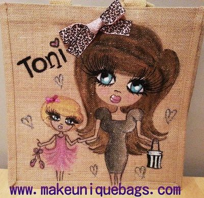 Personalised jute bag gymnast splits leotard www.facebook.com ...