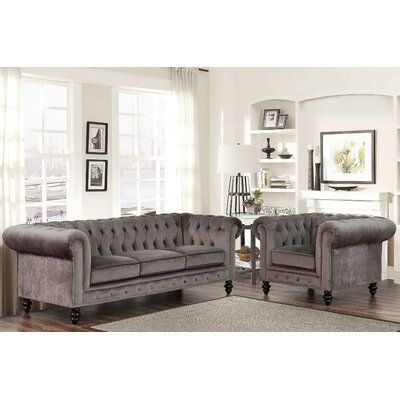 Mistana Brooklyn 2 Piece Leather Living Room Set In 2020 Leather