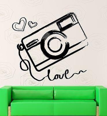 Wall Vinyl Sticker Photo Photography Room Art Kids Teen Room Love Girl ig2046