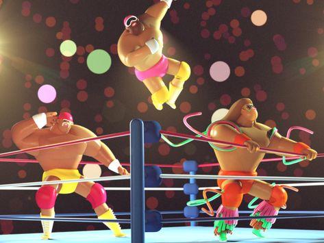 3D Wrestling Guys
