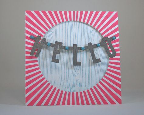Hello letterpress card video tutorial by @Carissa from {Carissa Miss} from {Carissa Miss} from {Carissa Miss} Wiley #hello #celebrate #pink
