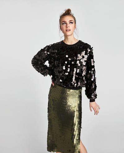 9e014e2c9 FALDA LENTEJUELAS de Zara | classic and fashion | Falda lentejuelas ...