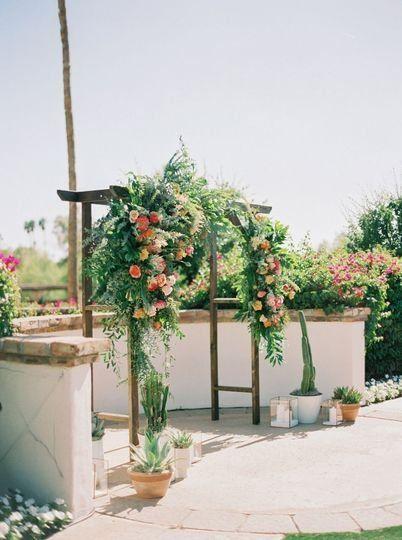 Greenery Wedding Ceremony Decor Idea Greenery Arch Wedding Decor