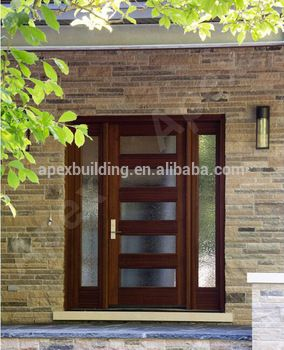 Sapele Mahogany Solid Wood Entrance Doors Malaysia Wood