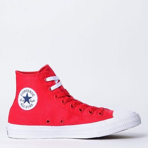 e3a331a7772 Compre Converse All Star   Tênis Converse All Star Chuck Taylor II Hi Red  White 155313 por R 299