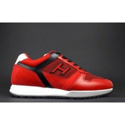 Hogan - Sneakers H321 Uomo Pelle Tela Nabuk Rosso Prezzo 290 ...