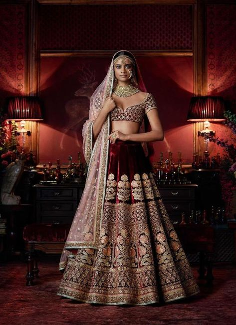 6c9db053f4d7 Exclusive Heavy Designer Beautiful Maroon Color Bridal Lehenga Choli- STYLIZONE – Stylizone A beautiful blush pink gown with a heavily  embellished bodice in ...