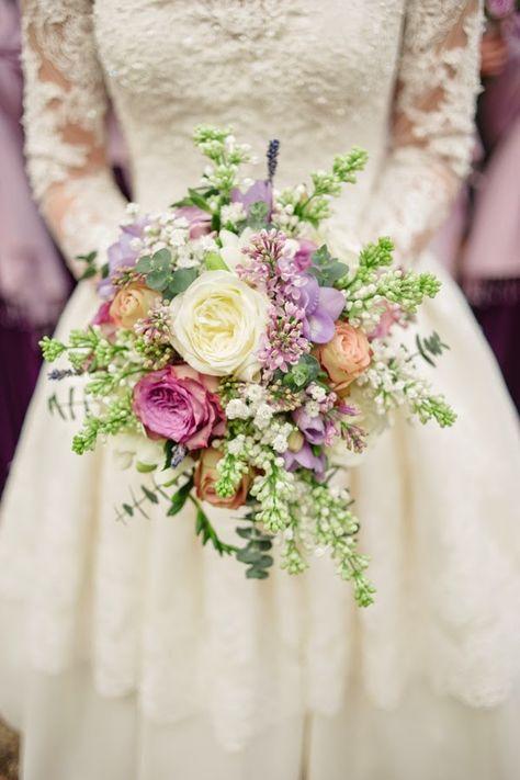 Niepoprawna Panna Młoda: Bukiet ślubny z łąki i ogrodu