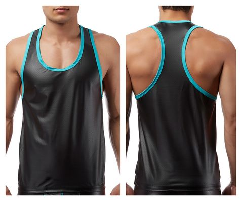 Haseil Mens Athletic Vest Slim Tight Training Base Layer 2-Pack Muscle Tank Top