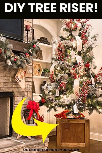 How To Christmas Tree Shipping Crate Stand Queen Bee Of Honey Dos In 2020 Christmas Tree Christmas Crafts Diy Rustic Christmas