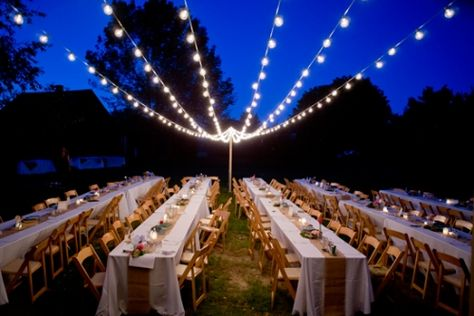Bistro Lights Diy Wedding Lighting