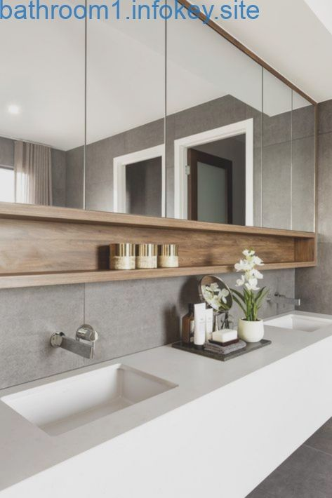 Badezimmer Master Moderne Lagerung Medizin Schrank Regal Regale Doppelwaschtisch Badezimmer Luxuskuchen Badezimmer Design