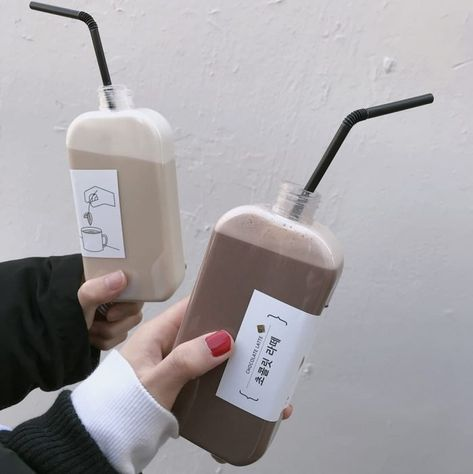 unique and modern drink packaging Aesthetic Coffee, Brown Aesthetic, Korean Aesthetic, Aesthetic Food, Coffee Packaging, Bottle Packaging, Food Packaging, Packaging Design, Eat This