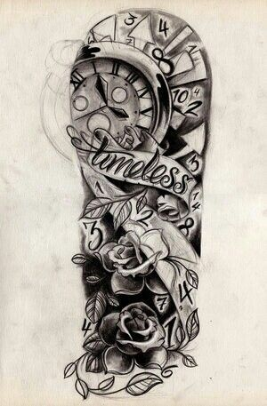 Another Cool Half Sleeve I Wonder If You Could Use This Design To Make An Alice In Wonderlan Tattoo Sleeve Designs Sleeve Tattoos Half Sleeve Tattoos Drawings