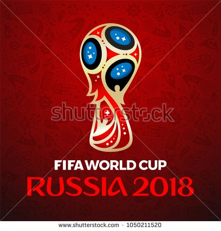 Bangkok Thailand March 20 2018 Fifa World Cup Russia 2018 On Red Background Vector Illustration World Cup Russia 2018 Image Red Background
