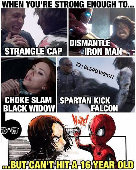 I'm sorry Bucky, but... so true<<<That's because he has spider sense. And he also complimented Bucky's metal arm so that may have shocked him a bit...
