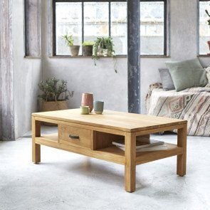 Table Basse En Teck 110x60 Vertigo In 2020 Teak Coffee Table