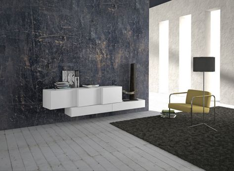 Weißes Sideboard In Hochglanz Für Eine Moderne Einrichtung , #einrichtung  #hochglanz #moderne #sideboard