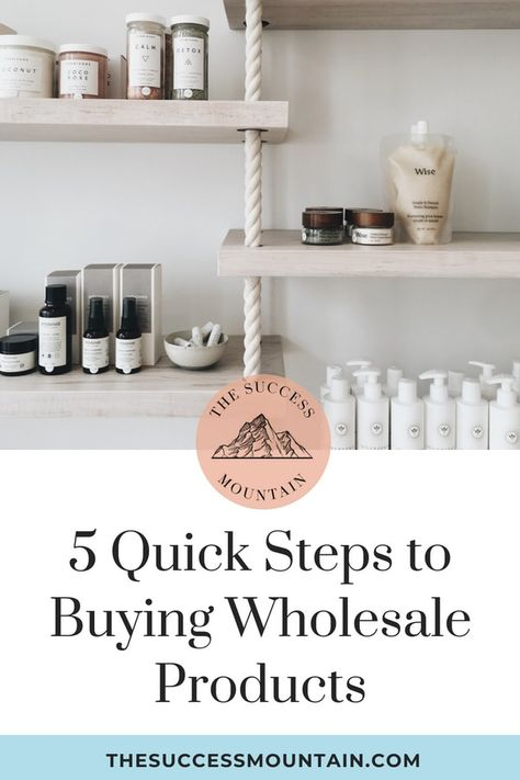 5 Quick Steps to Buying Wholesale Products | The Success Mountain