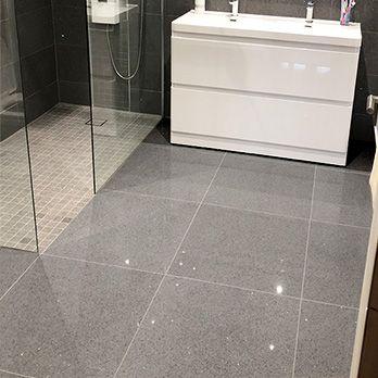 Modern Grey Stardust Sparkly Tiles Bathroom Tile Diy Quartz