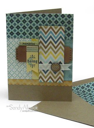 You Being You card by Guest Designer Sandy Allnock for the Card Kitchen Kit Club using the May 2014 kit