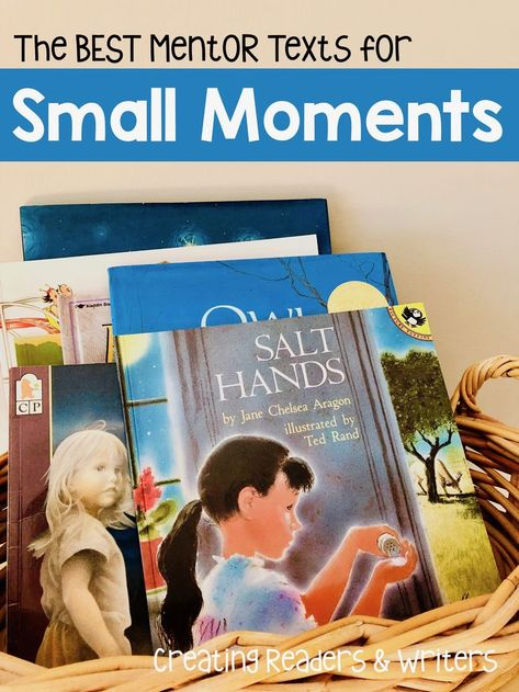 """If you're launching your """"Small Moments"""" writing unit, check out my top picks for mentor texts. They're great choices for teachers of children. Writing Mentor Texts, Personal Narrative Writing, Personal Narratives, Writing Lessons, Sentence Writing, Informational Writing, Writing Process, Kindergarten Writing, Teaching Writing"""