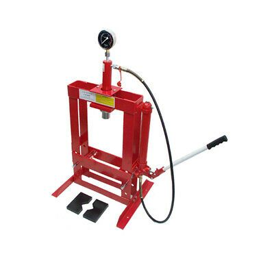 Details About 10 Ton Hydraulic Shop Press Floor Bench Top W Gauge Hydraulic Shop Press Metal Working Tools Shop Press