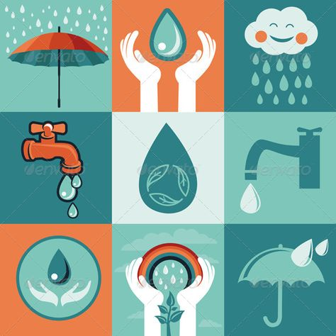 Save Water Vector set of retro flat banners – save water, EPS and AI files, Jpeg file Created: GraphicsFilesIncluded: JPGImage Layered: Yes MinimumAdobeCSVersion: CS Tags: background