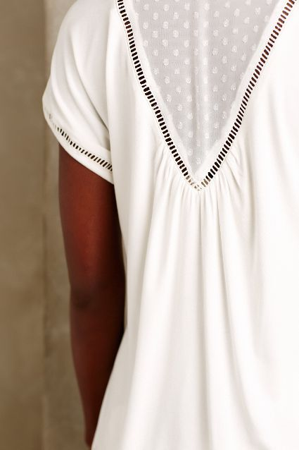 Chiffon-Spliced Tee - anthropologie.com. Brand new #anthrofave