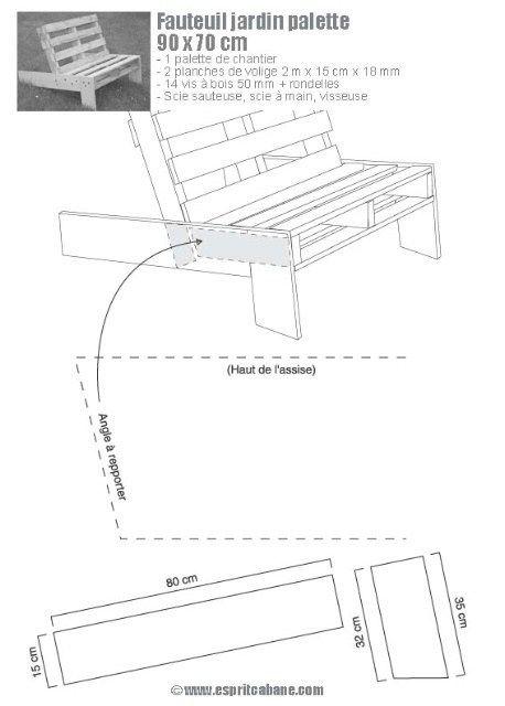 Plan De Meuble En Palette | Fauteuil jardin, Fauteuil ...