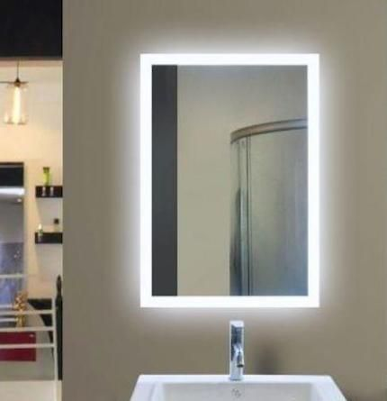 Eva Led Mirror Has Both A Modern Motion Sensor To Turn On Off As Well As A Built In Demister To Prevent Your Mirro Mirror Bathroom Mirror Illuminated Mirrors