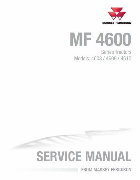 Massey Ferguson 4608 4609 4610 Tractors Service Workshop