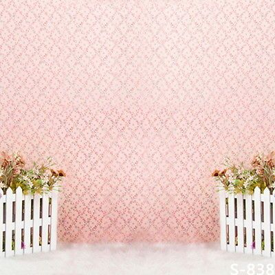 7x10 FT Geometric Vinyl Photography Background Backdrops,Japanese Civilization Inspired Floral Arrangement Lattice Pattern Background Newborn Baby Portrait Photo Studio Photobooth Props