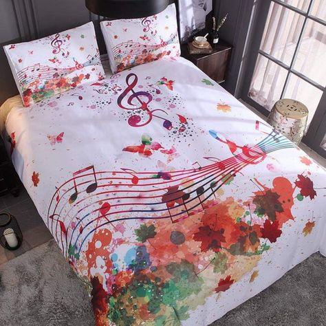 Copripiumino Note Musicali.Cama Musical Piumone Arredamento E Trapunte