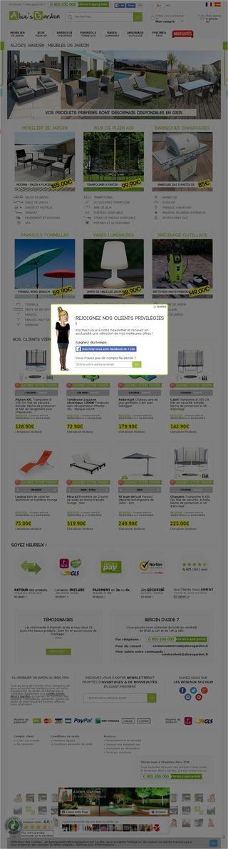Aliceu0027s Garden Boutique en ligne spécialisée dans les meubles de