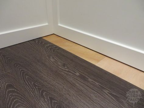 How To Install Click Laminate Flooring Without Removing Baseboards Just Needs Paint Removing Baseboards Installing Hardwood Floors Flooring