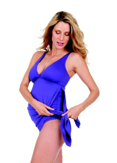Seraphine Multiway Purple Maternity Swimsuit http://yummymummylingerie.com/product/seraphine-purple-multiway-maternity-swimsuit/ Wear it loose to cover your hips, tie it low for a little bit of cover, or tie it high to show off your bump with a bow!