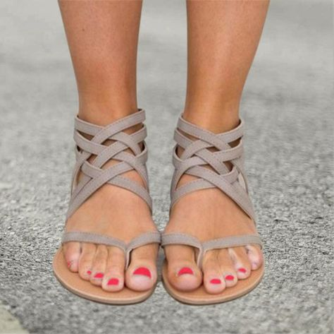 9ca7bca7aeb Sandals - Ladies Ankle Strap Flats Sandals(Buy 2