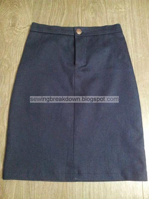 خياطة و تفصيل طريقة خياطة تنورة بالصور Sewing Skirts Skirts Fashion