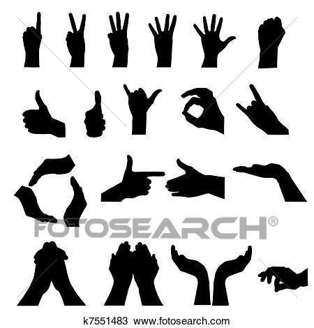 إشارة اليد عن White سهم التوجيه تصوير الرسم K7551483 Vector Illustration Illustration Vector Hand