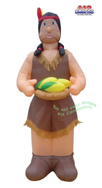 Thanksgiving American Indian Woman Inflatable.